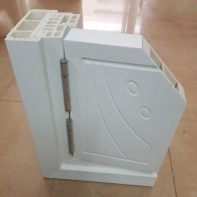 Mặt cắt cửa gỗ nhựa Composite Panel