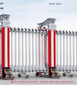 Cổng Xếp Tự Động M034 Nhập Khẩu